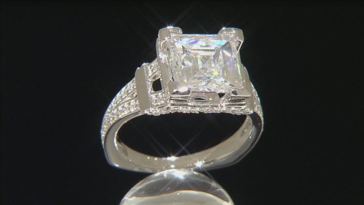 White Cubic Zirconia Platineve Ring 7.25ctw