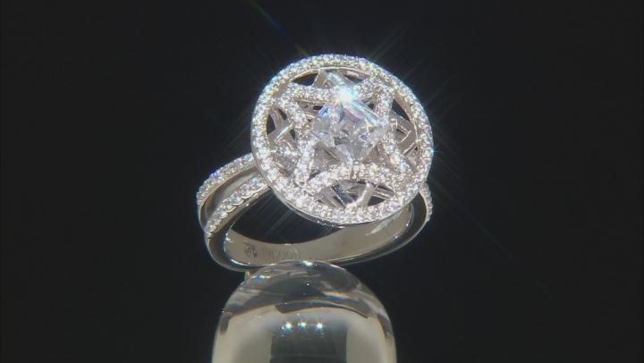 White Cubic Zirconia Platineve Ring 2.81ctw