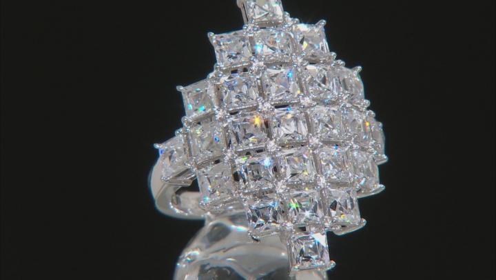 White Cubic Zirconia Platineve Ring 9.32ctw