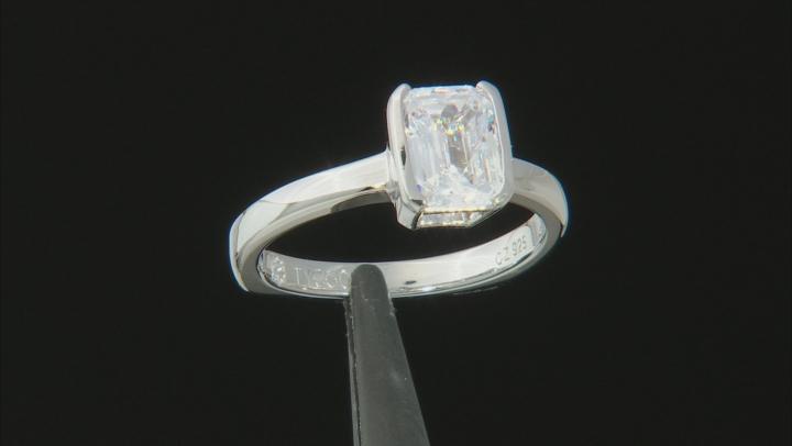 White Cubic Zirconia Platineve Ring 3.02ctw