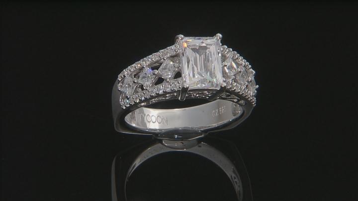 White Cubic Zirconia Platineve Ring 4.06ctw