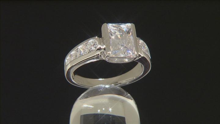 Cubic Zirconia Platineve Ring 5.65ctw (3.36ctw DEW)