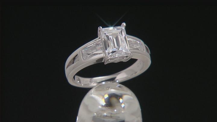 Cubic Zirconia Platineve Ring 4.68ctw (2.40ctw DEW)
