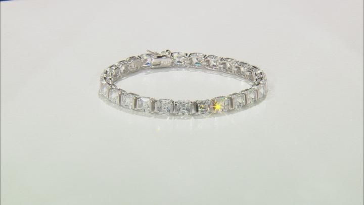 White Cubic Zirconia Platineve Bracelet 37.57ctw