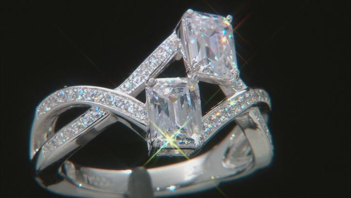 Cubic Zirconia Platineve Ring 3.36ctw (2.37ctw DEW)