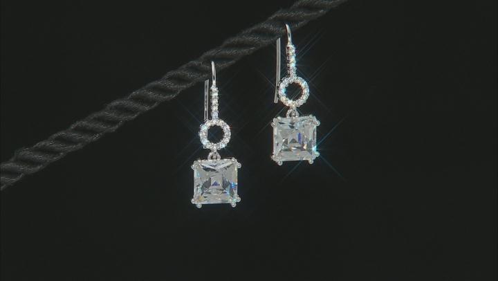White Cubic Zirconia Platineve Earrings 8.91ctw