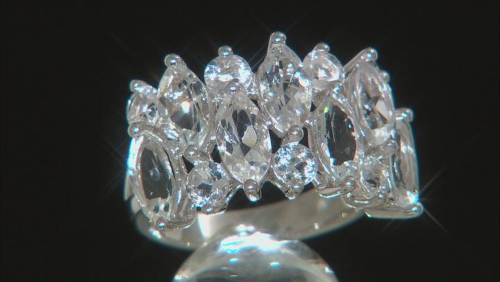 White Goshenite Sterling Silver Ring. 3.60ctw