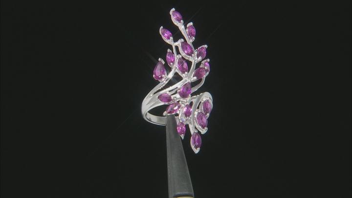 Purple Rhodolite Sterling Silver Ring 2.31ctw