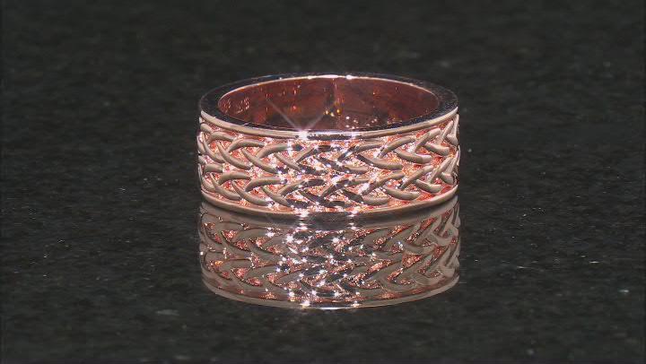 Copper Braid Design Men's Eternity Band Ring