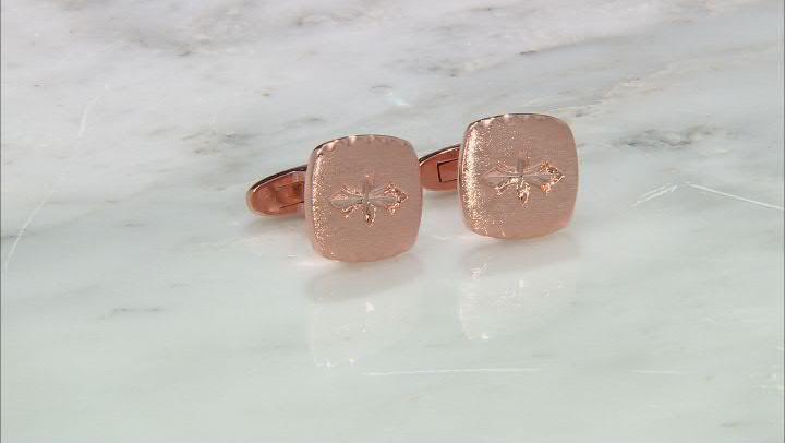 Copper Textured Cufflinks