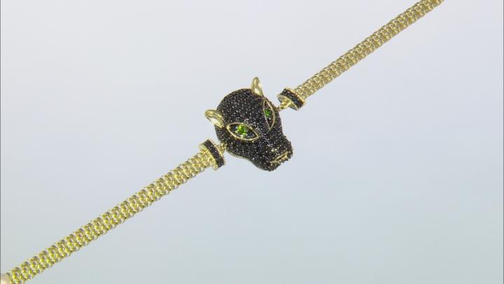 Black spinel 18k gold over silver bracelet 2.33ctw