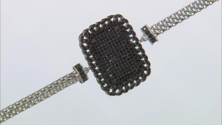 Black spinel rhodium over silver bracelet 1.96ctw
