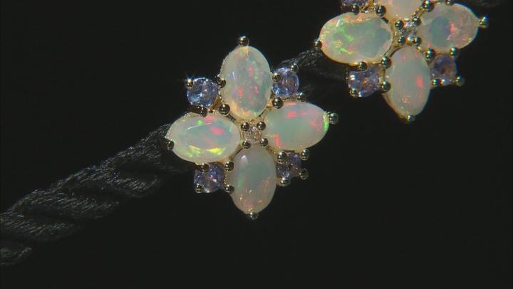 Ethiopian Opal 18k Gold Over Silver Earrings 1.79ctw