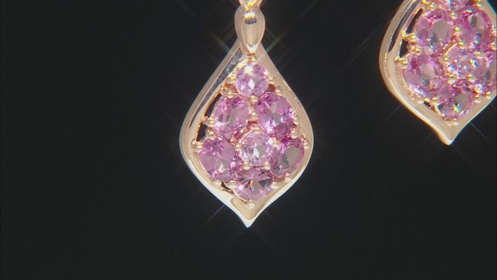 Pink Blush Color Garnet 18k Rose Gold Over Silver Earrings 2.16ctw