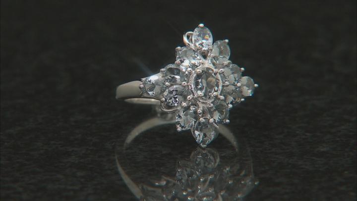 Platinum Color Spinel rhodium over silver ring 2.85ctw