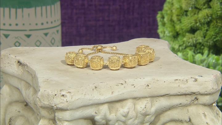 18K Yellow Gold Over Silver Rose A La Turca Bolo Bracelet