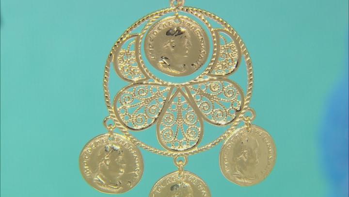 18K Yellow Gold Over Silver Coin Replica Enhancer