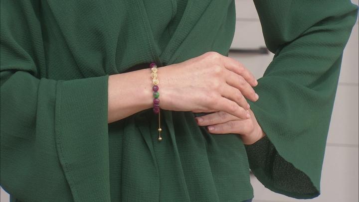 Quench Crackled Quartz 18K Gold Over Silver Bead Bracelet