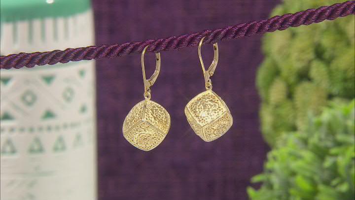 18K Gold Over Sterling Silver Rose a la Turca Earrings