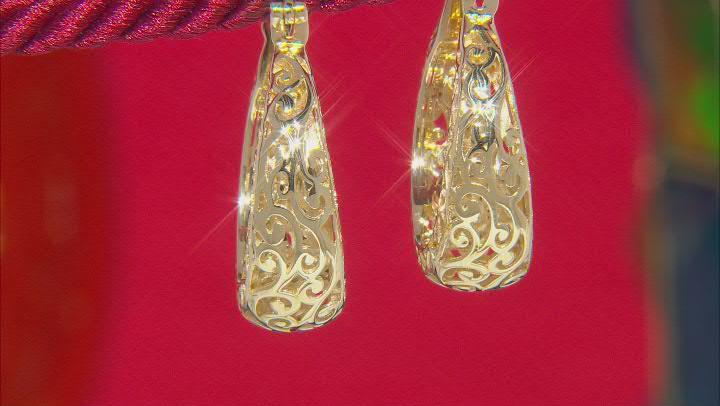 18k Yellow Gold Over Sterling Silver Hoop Earrings