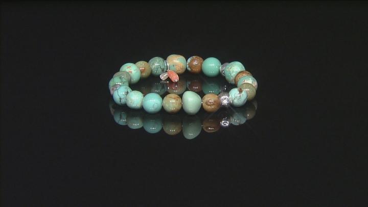 Multicolor Kingman Turquoise Silver Bracelet