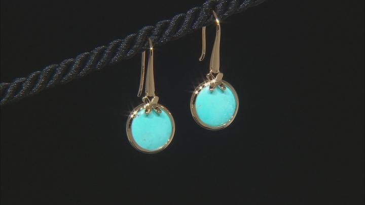 Turquoise Sleeping Beauty 18k Gold Over Silver Earrings