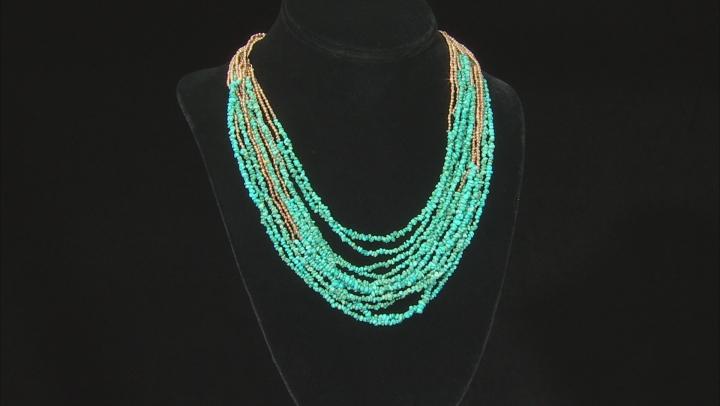 Turquoise Kingman 18k Gold Over Sterling Sliver Necklace