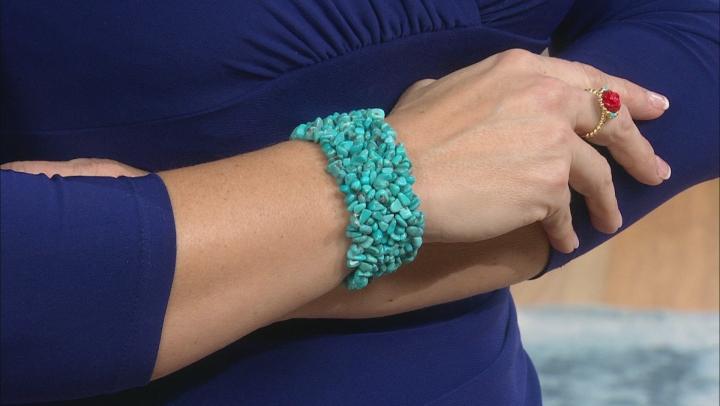 Turquoise Blue Kingman Stretch Bracelet