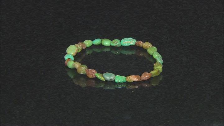 Green Kingman Turquoise Stretch Bracelet
