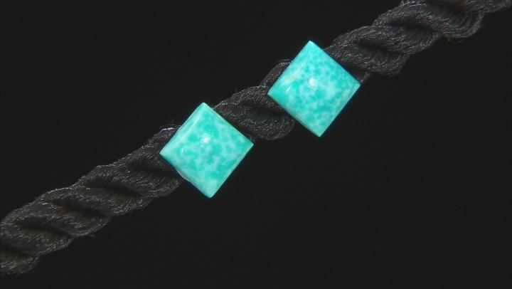 Kingman Turquoise Sterling Silver Square Stud Earrings