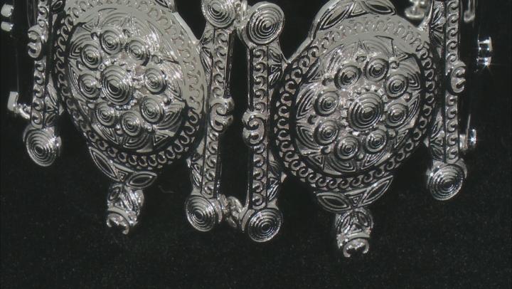 Sterling Silver Over Brass Station Bracelet