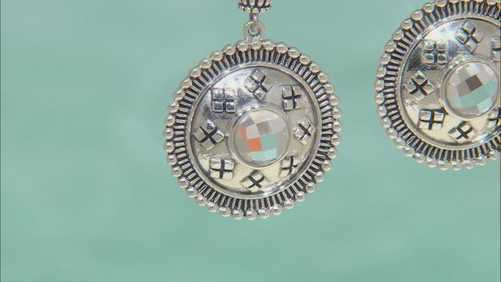 Crystal Quartz Sterling Silver Dangle Earrings 4.05ctw