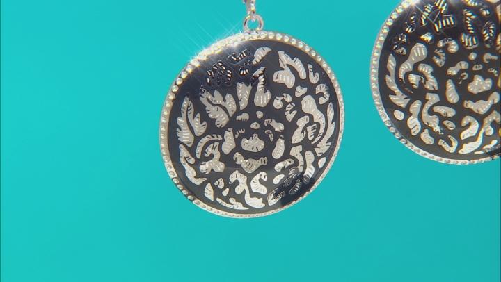 Sterling Silver Floral Design Earrings