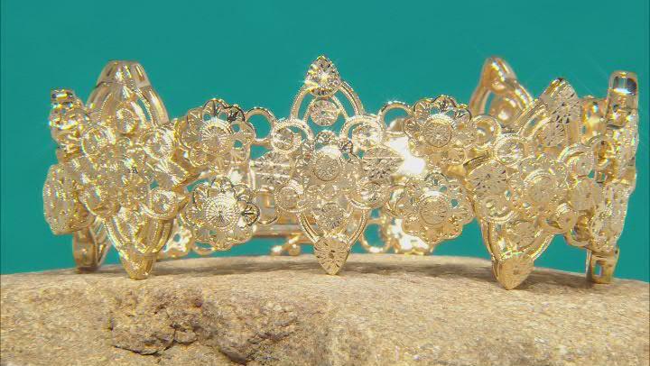 18K Yellow Gold Over Brass Bracelet