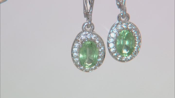 Mint Kyanite Sterling Silver Dangle Earrings 1.05ctw