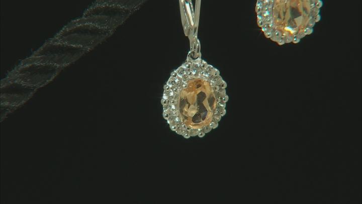 Golden Hessonite Sterling Silver Earrings 2.05ctw
