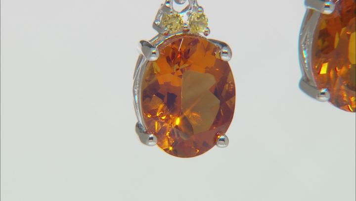 Orange Madeira Citrine Sterling Silver Dangle Earrings 4.10ctw