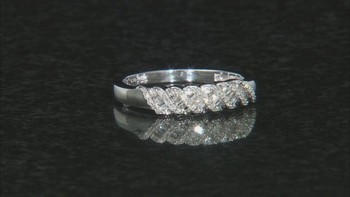 White Diamond 10k White Gold Ring 0.20ctw