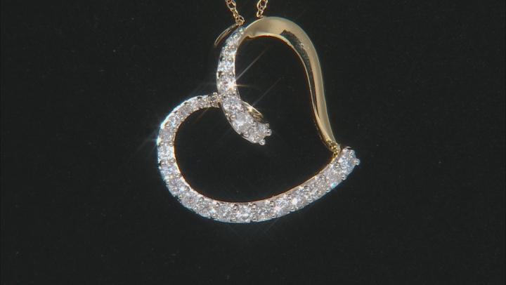 White Diamond 10k Yellow Gold Pendant 0.50ctw