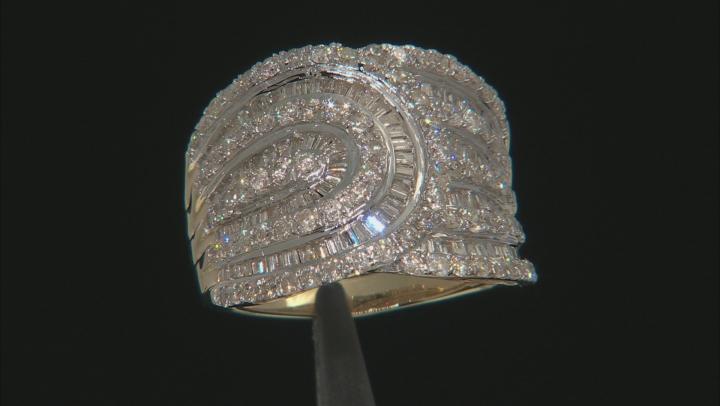 White Diamond 10k Yellow Gold Ring 2.50ctw