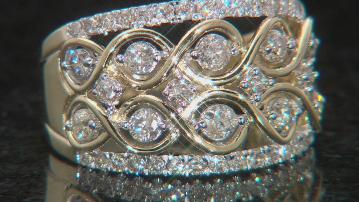 Candlelight Diamond 10k Yellow Gold Ring 1.00ctw