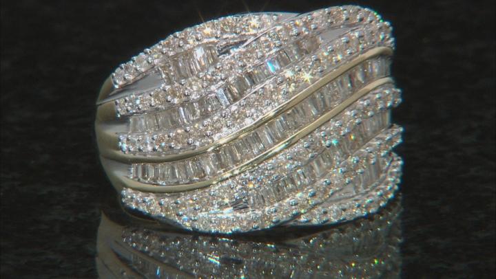 White Diamond 10K Yellow Gold Ring 1.50ctw