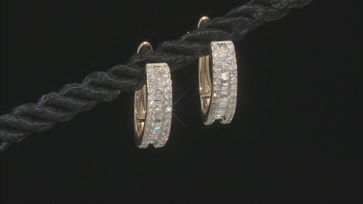 White Diamond 10K Yellow Gold Earrings 0.45ctw