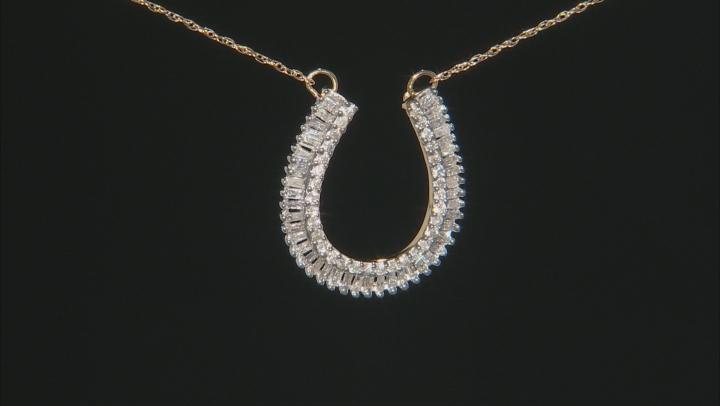 White Diamond 10K Yellow Gold Necklace 0.50ctw