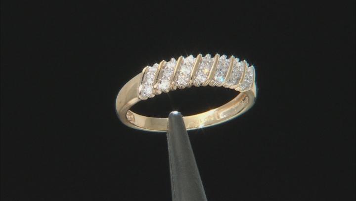 White Diamond 10K Yellow Gold Ring 0.20ctw