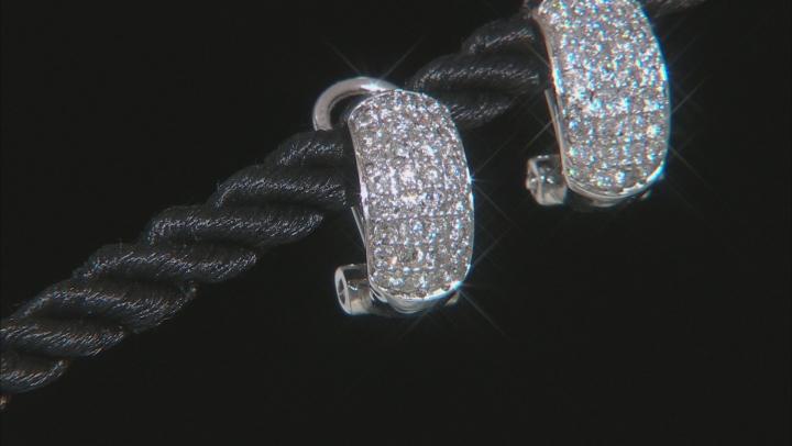White Diamond 10K White Gold Earrings 0.70ctw