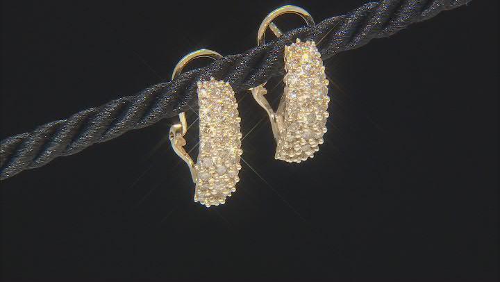 Champagne Diamond 10K Yellow Gold Earrings 1.70ctw