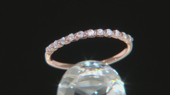 White Diamond 10k Rose Gold Ring 0.17ctw