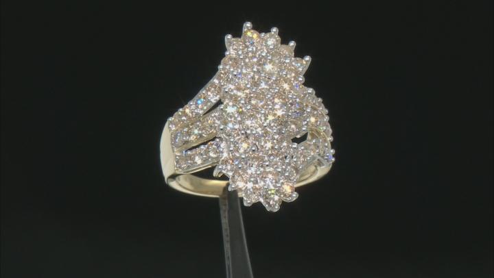 Diamond 10k Yellow Gold Cluster Ring 3.00ctw