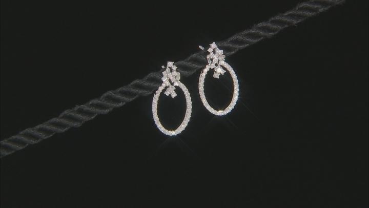 White Diamond 10K White Gold Earrings 0.50ctw